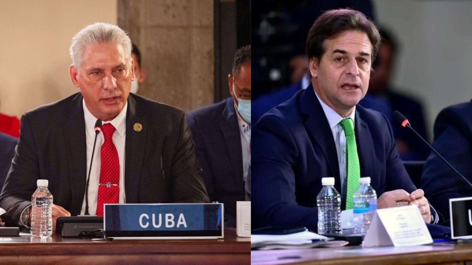 la dictadura ataca al presidente uruguayo tras encarar a diaz-canel