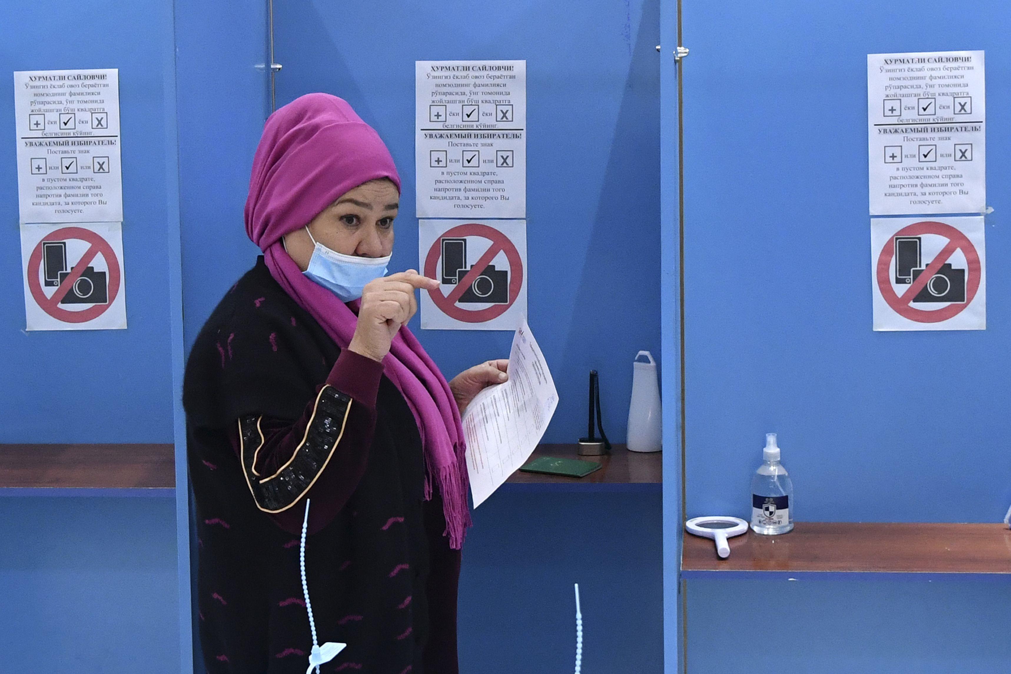 presidente de uzbekistan parece encaminado a la reeleccion