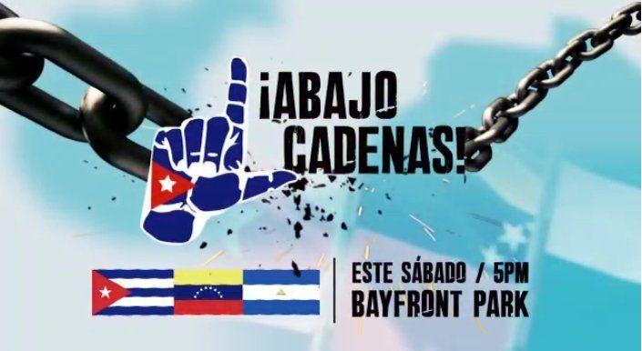 MIAMI: Evento Abajo Cadenas por un llamado a la libertad