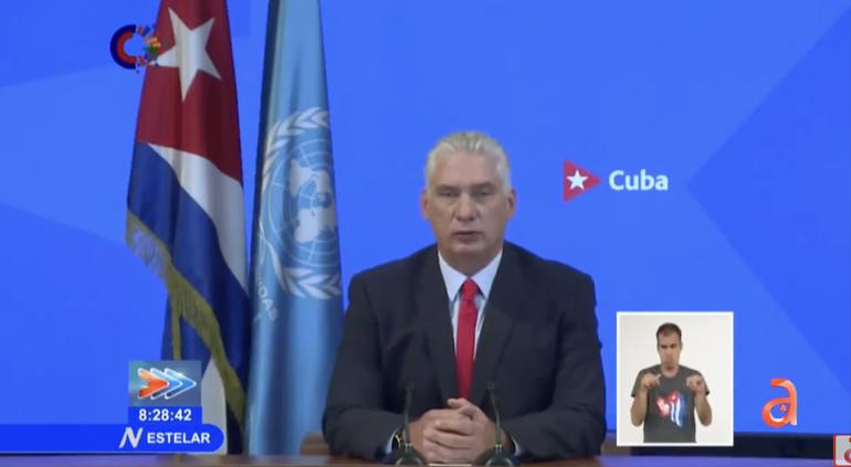 Díaz-Canel pone la libreta de racionamiento cubana como ejemplo de garantía del derecho a la alimentación