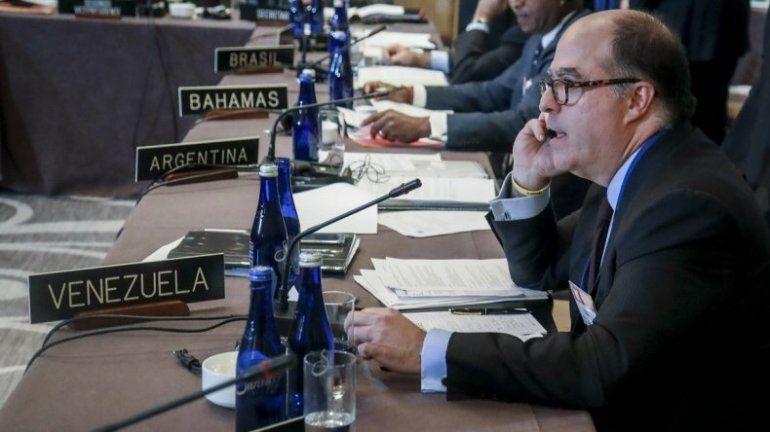 Borges en la OEA: El que quiera lavar dinero podrá hacerlo en Venezuela