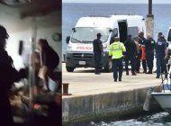 fuerzas especiales de islas cayman asaltaron esta noche el barco en que permanecian una docena de cubanos encerrados