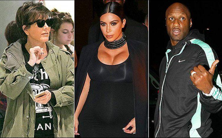 Kim Kardashian y Kris Jenner dejan todo para acompañar a Khloé al lado de Lamar Odom