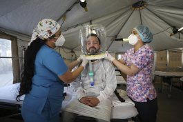 hospital en bogota usa cascos ?burbuja? en pacientes covid