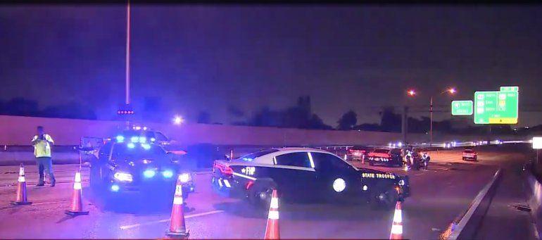 Agente de Policía de carreteras y motociclista hospitalizados después de un accidente en la I-95 en North Miami Beach