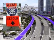 nuevos cierres y cambios en el expressway i-395 a la altura de la i-95