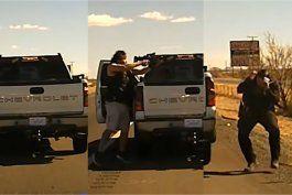 el aterrador momento en que un hispano acribillo a un oficial en nuevo mexico con una ar-15