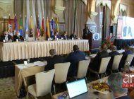 ex presidentes y otros lideres politicos de la region participaron en el foro interamericano por la democracia, celebrado en el hotel biltmore, en coral gables