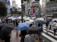 tormenta tropical dejara lluvias en el noreste de japon