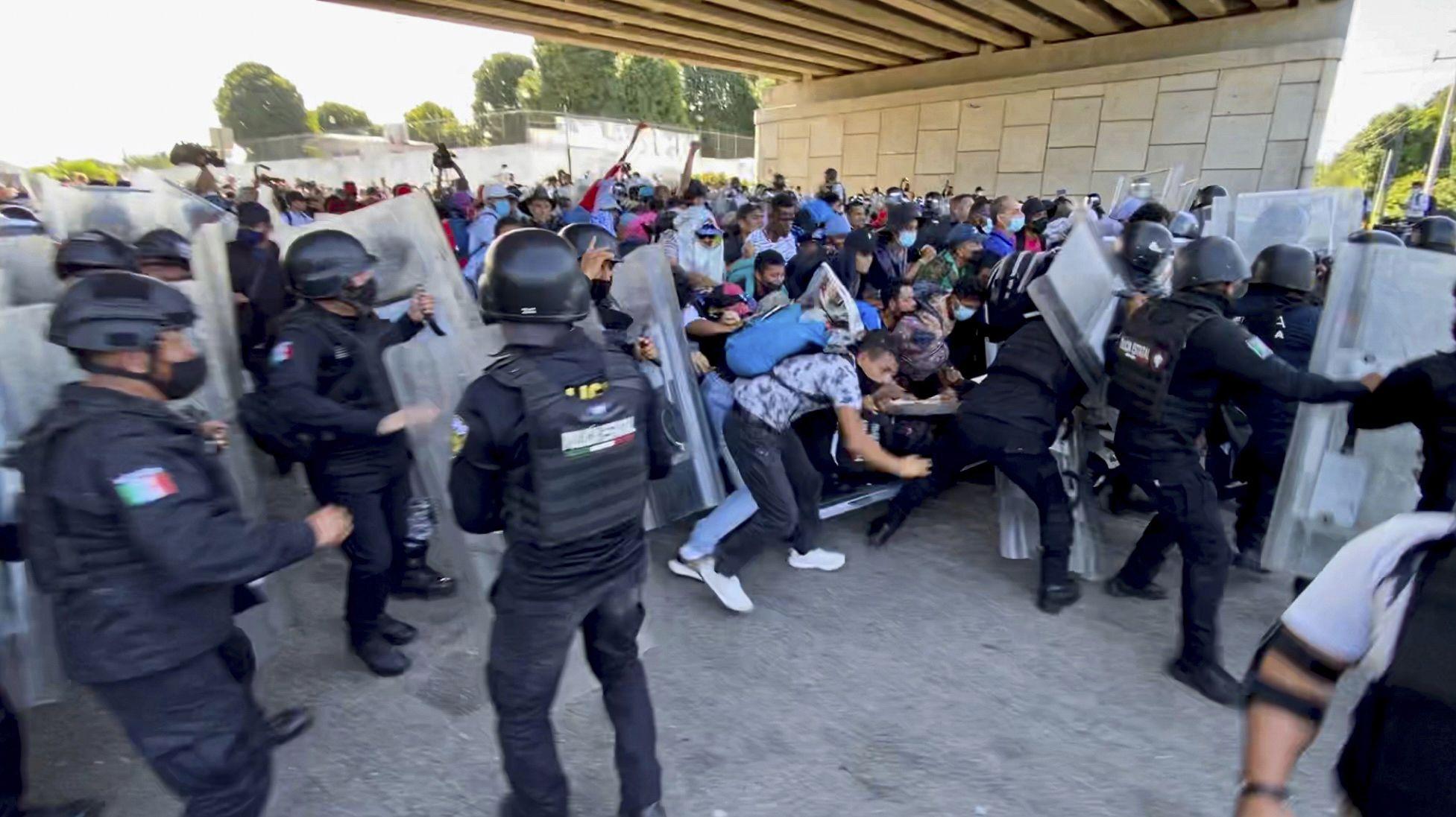 mas de 2.000 migrantes inician marcha desde el sur de mexico