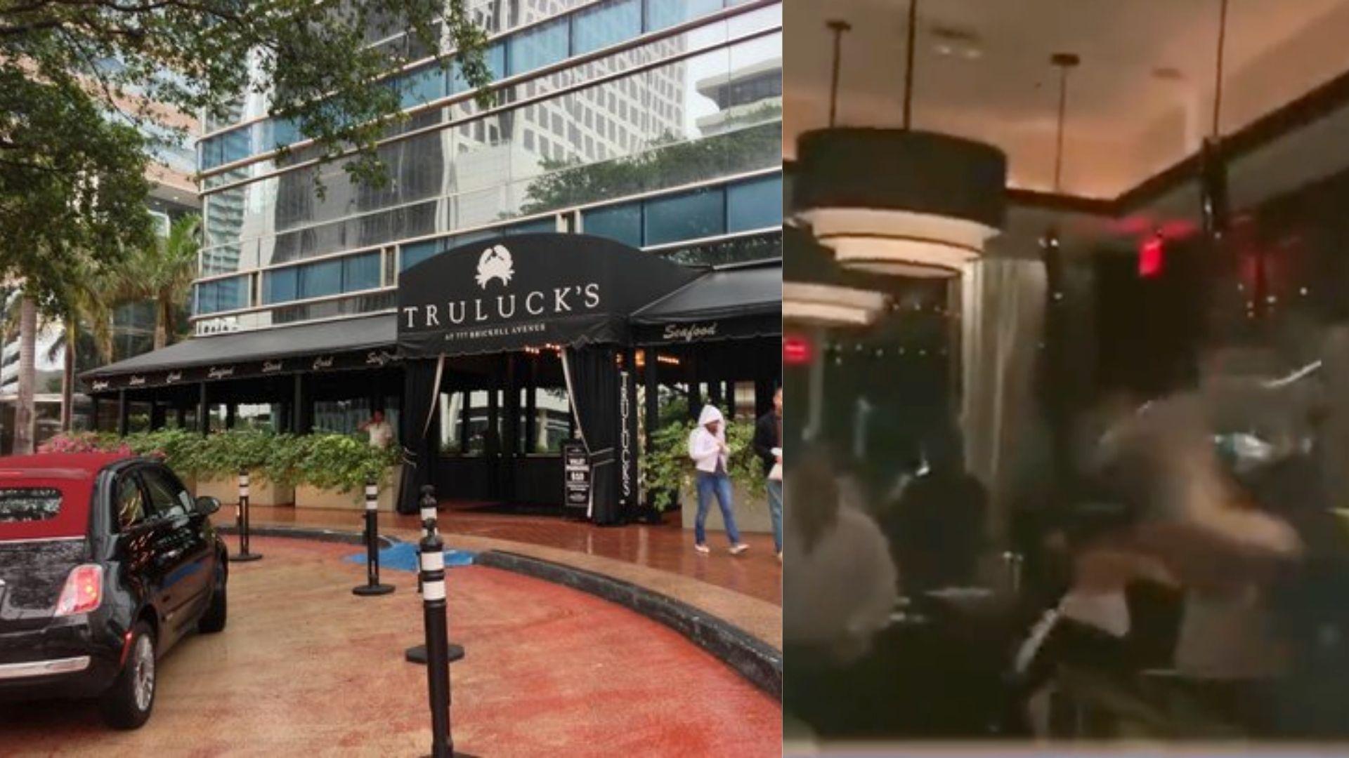 brutal pelela dentro de un lujoso restaurante en brickell deja miles de dolares en perdidas