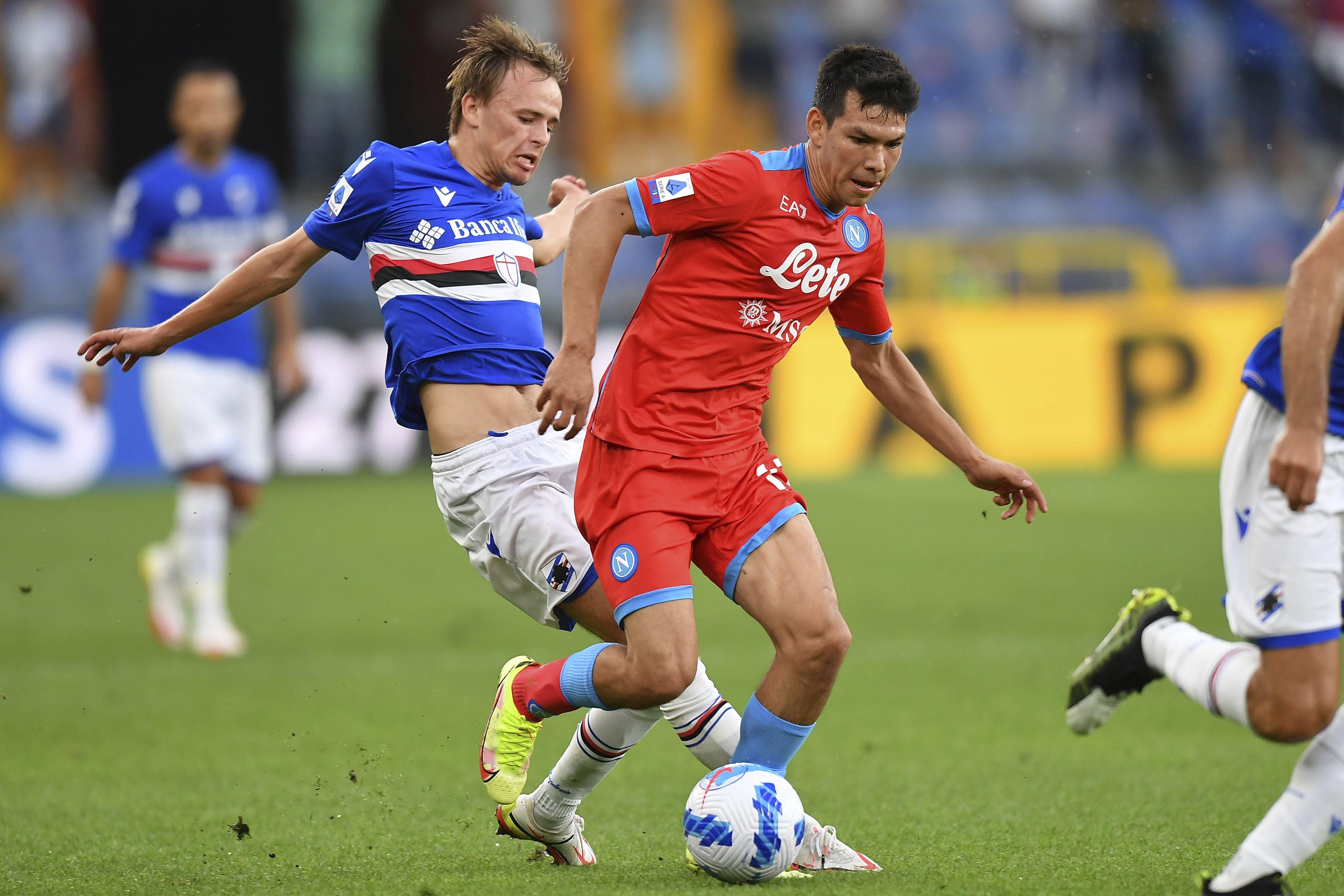 Osimhen y Lozano guían a Napoli en goleada sobre Sampdoria