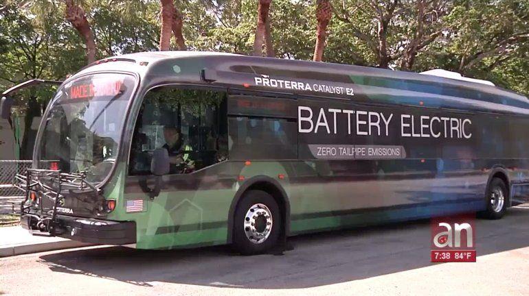 Llegan los autobuses eléctricos al condado Miami-Dade