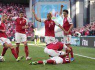 partido de la euro se suspende al desvanecerse jugador danes