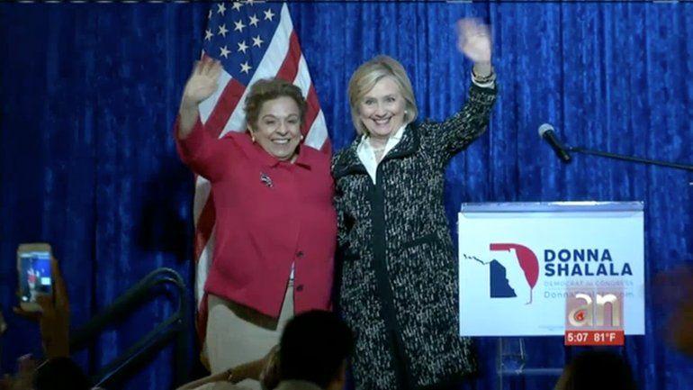 Hillary Clinton llegó hasta el sur de la Florida a apoyar la candidatura al congreso de Donna Shalala
