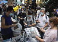 la ultima edicion del apple daily se agota en hong kong