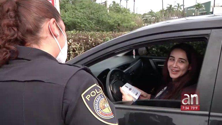 Conductores son sorprendidos por la policía de Hialeah Gardens