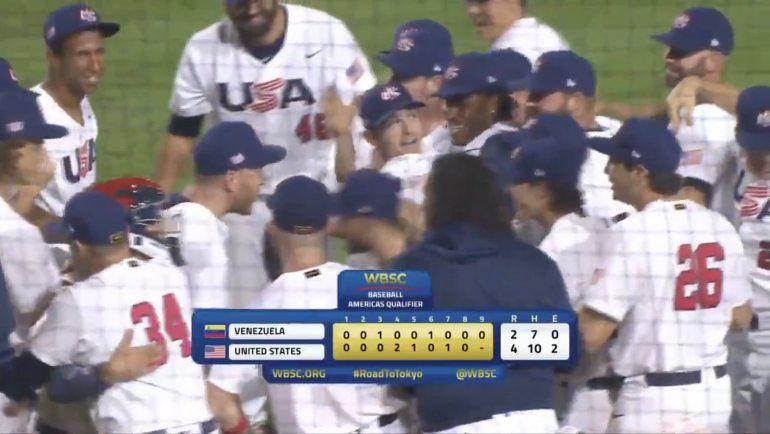 Estados Unidos doblega a Venezuela y clasifica al béisbol de Juegos Olímpicos