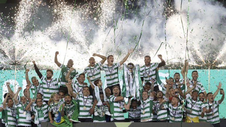 Sporting gana título de liga, termina sequía de 19 años