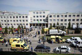 medios rusos: balacera en escuela en kazan deja 9 muertos