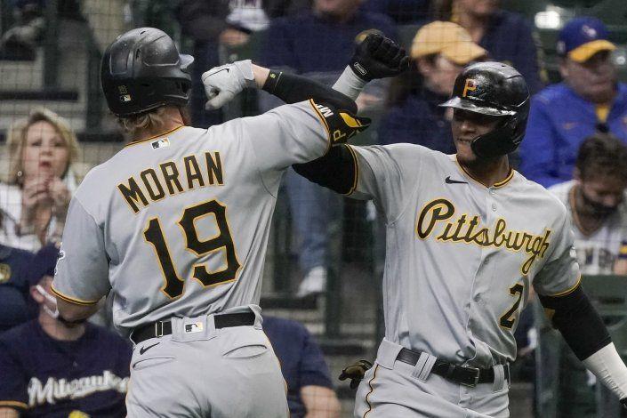 Moran brilla en triunfo de Piratas 6-5 sobre Cerveceros