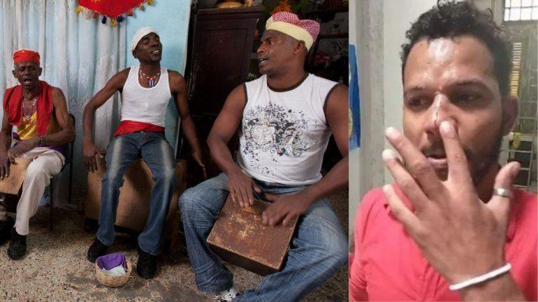 Abakuás cubanos apoyan a Maykel Osorbo