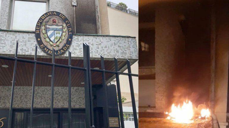 La policía de París investiga supuesto ataque a la embajada cubana